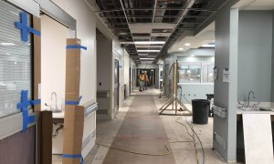 Hallway in the new Emergency Care Center