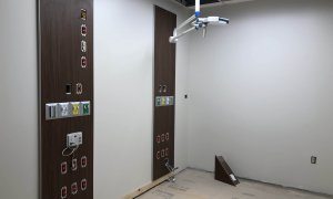 Patient room in the new Emergency Care Center