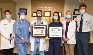 Manatee Memorial Hospital Honored with American Heart Association® Mission: Lifeline® STEMI Receiving Center Gold Quality Achievement Award