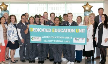 Manatee Memorial Hospital Opens a Dedicated Education Unit Nursing Students